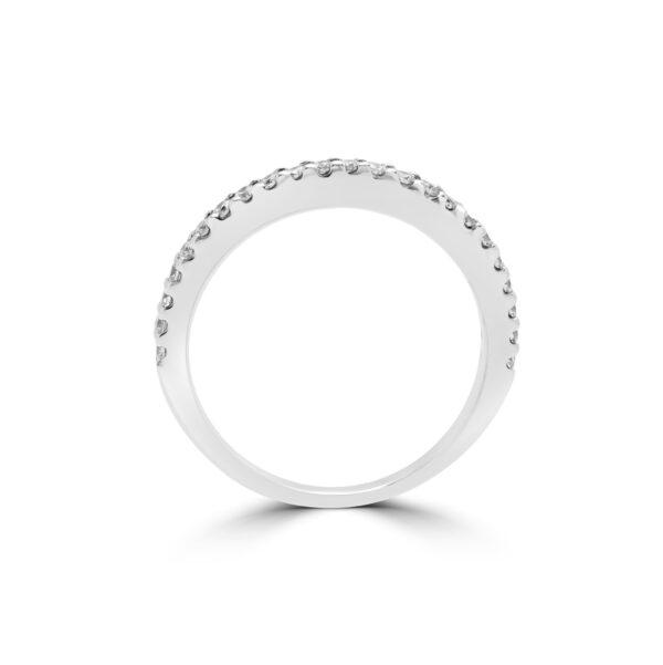 Timeless anniversary diamond semi-eternity ring