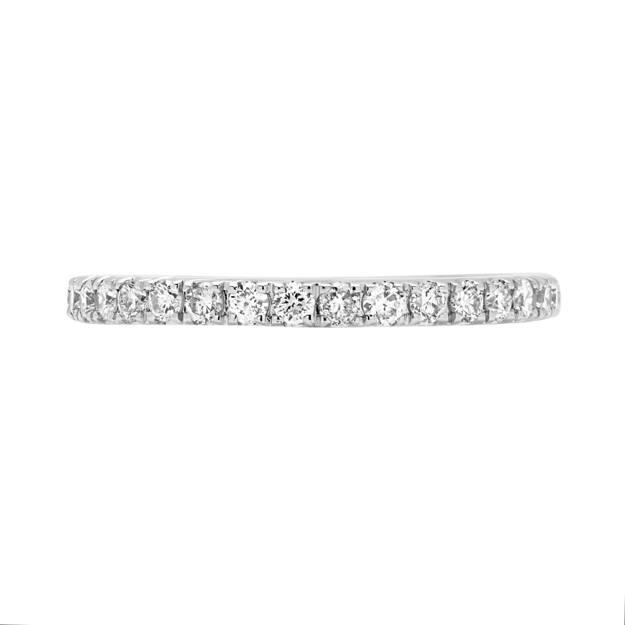 Commerative anniversary semi-eternity diamond ring