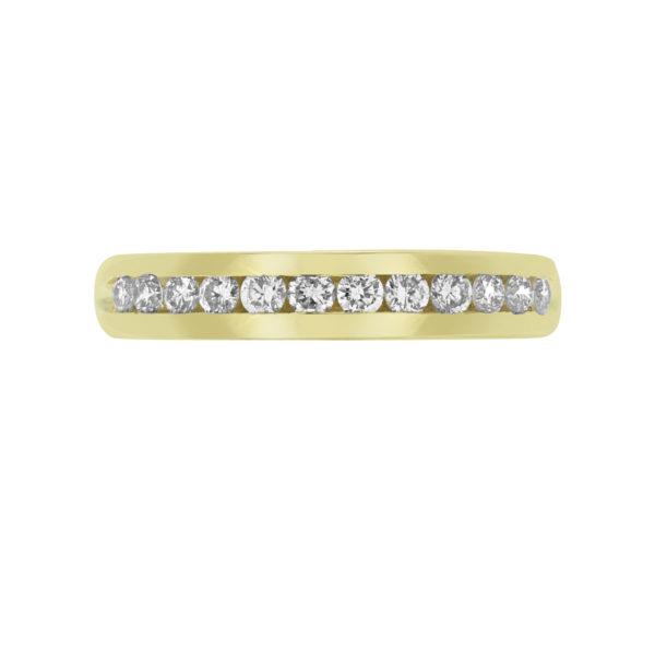 Hopeless romantic semi-eternity diamond ring