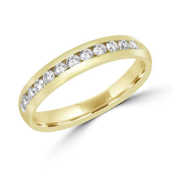 Hopeless romantic channel setting semi-eternity diamond ring