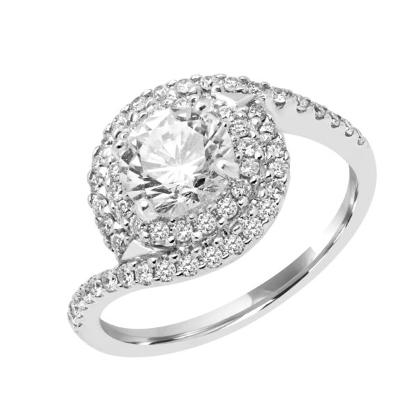 Desirable Diamond Halo engagement ring