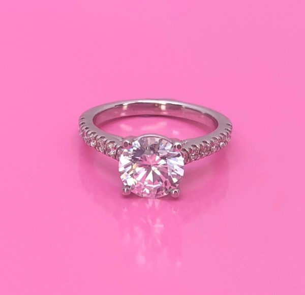 GIA certified Flawless solitaire diamond engagement ring