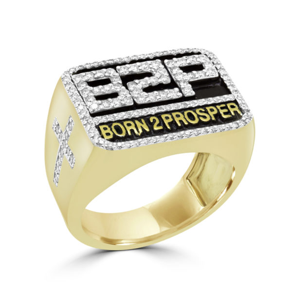 Prosperity men diamond ring