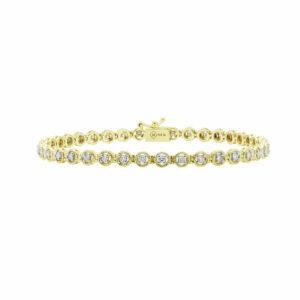 Chic Diamond Tennis bracelet in yellow gold