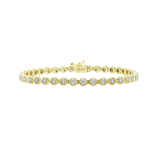 Chic Diamond Tennis bracelet in yellow gold