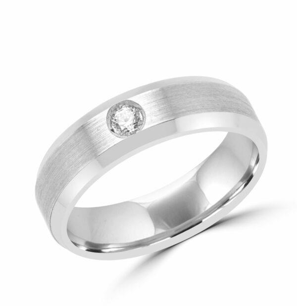 Men 4life diamond wedding band in 10k white gold