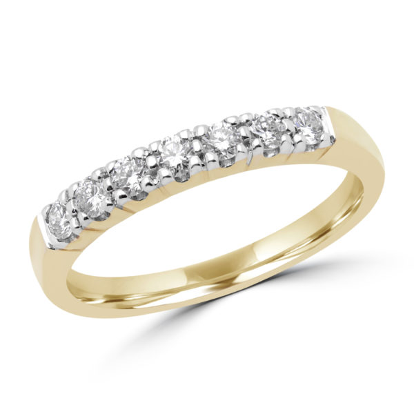 anniversary semi-eternity ring 0.30 (ctw) in 14k yellow gold