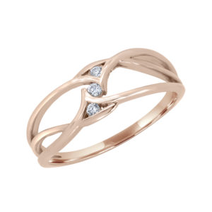 Charming promise ring in 10k rose gold