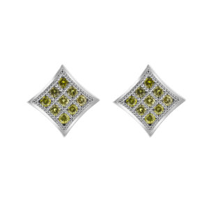 Canary diamond earrings ctw (0.42) in 14k white gold