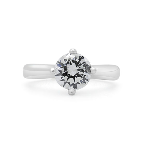 Eye catching Solitaire engagement ring 1.01 (ctw) in 14k white gold side 2