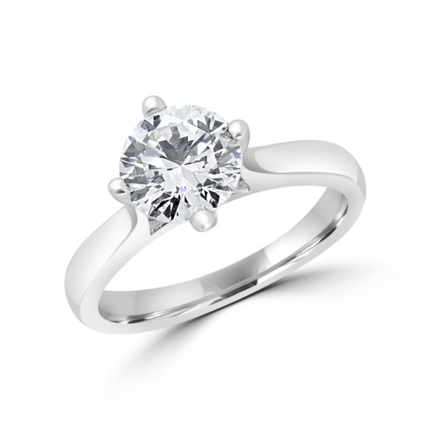Solitaire engagement ring 1.01 (ctw) in 14k white gold