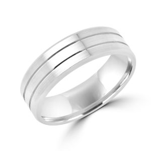Refined elegant wedding band in white goldMontreal