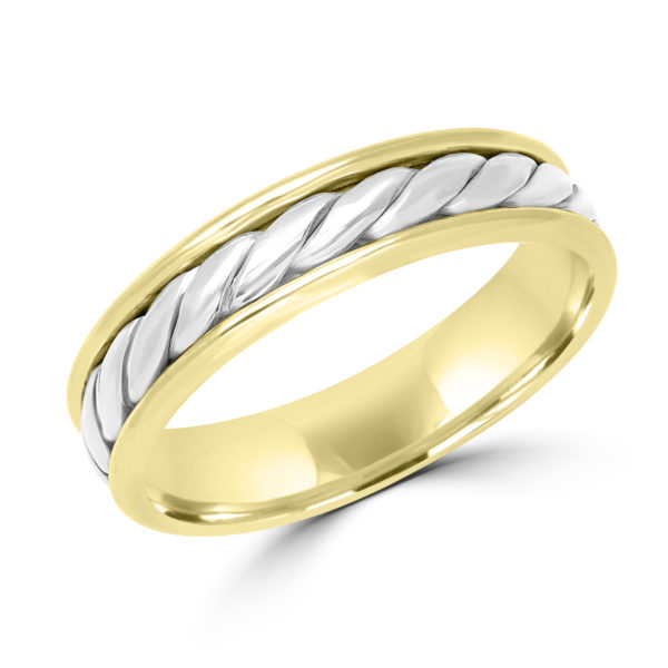 Two tone braided wedding Band Montreal