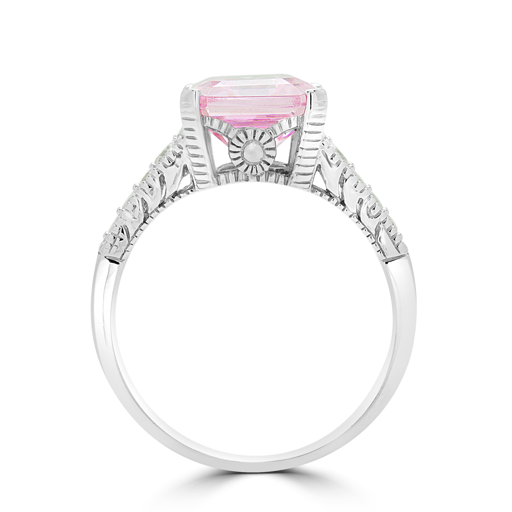 bague diamant rose