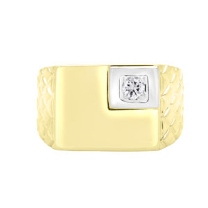Luxurious men's diamond ring 0.16(ctw) in 10k yellow gold