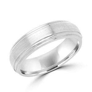Timeless white gold wedding band (6 mm) Montreal