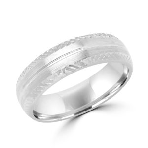 Magnetic design white gold wedding Band (6mm) Montreal