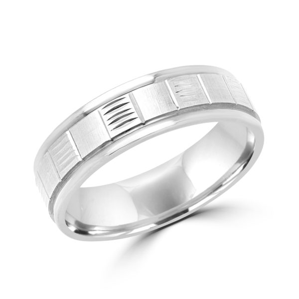 Magnificent white gold design wedding Band (6mm)