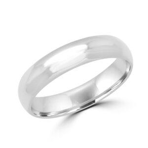 Pleasing white gold wedding Band (5mm)