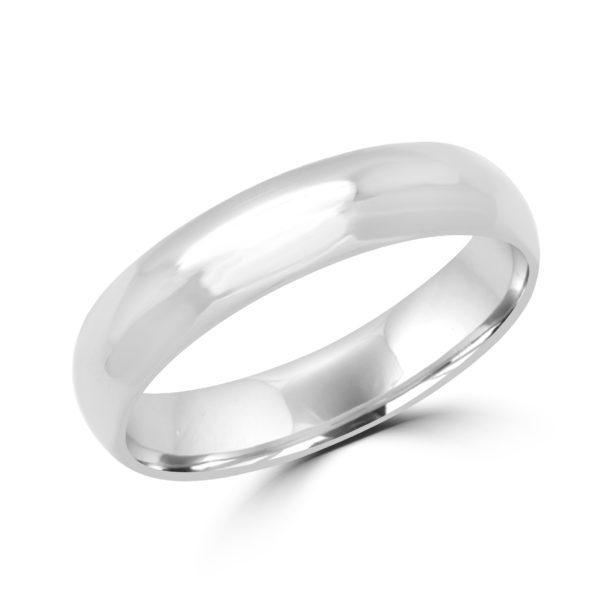 Pleasing white gold wedding Band (5mm)