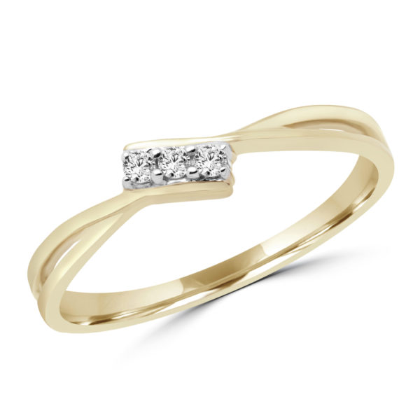 Promise ring in 10k yellow gold with 0.05 (ctw)