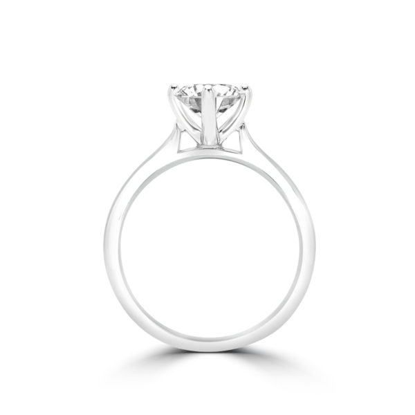 Statement solitaire engagement ring 1.02 (ctw) in 14k gold