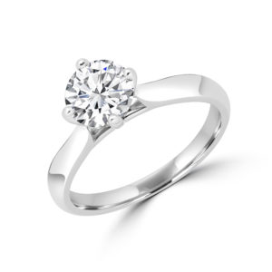 Statement solitaire engagement ring 1.02 (ctw) in 14k gold product picture