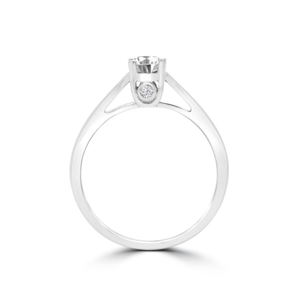 Classic love solitaire engagement ring 0.53 (ctw) in 18k gold