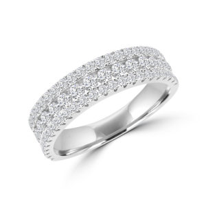 Glamour & glitz semi-eternity ring in 14k gold