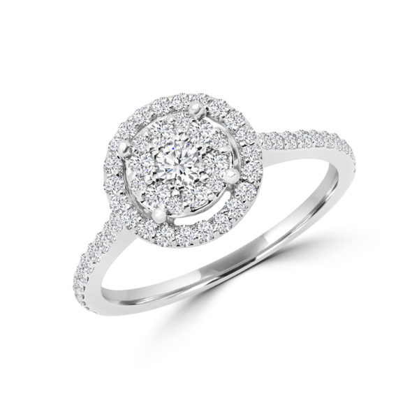 Gorgeous diamond halo engagement ring
