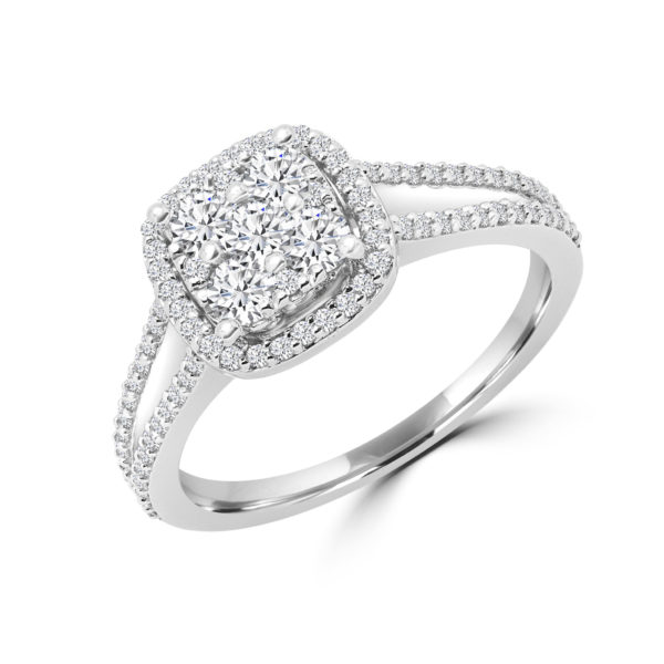 Steal her heart halo diamond engagement ring (0.72 ctw)
