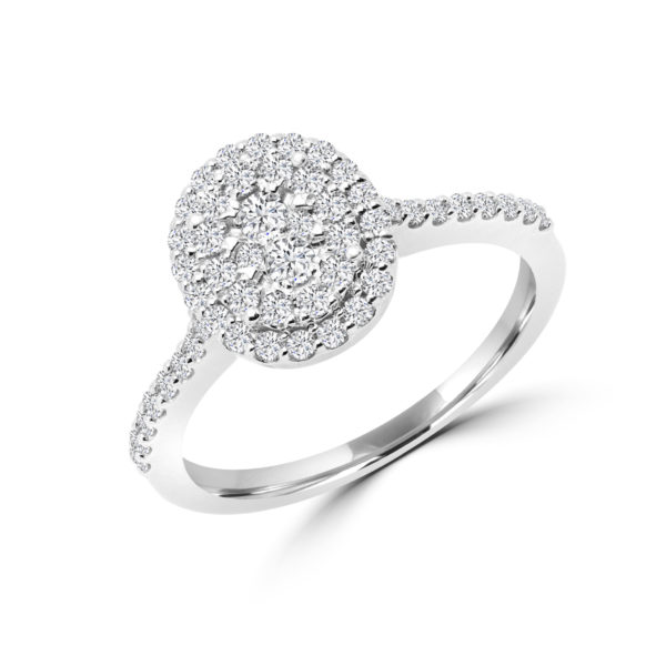 Sparkle away diamond cluster ring in 14k gold