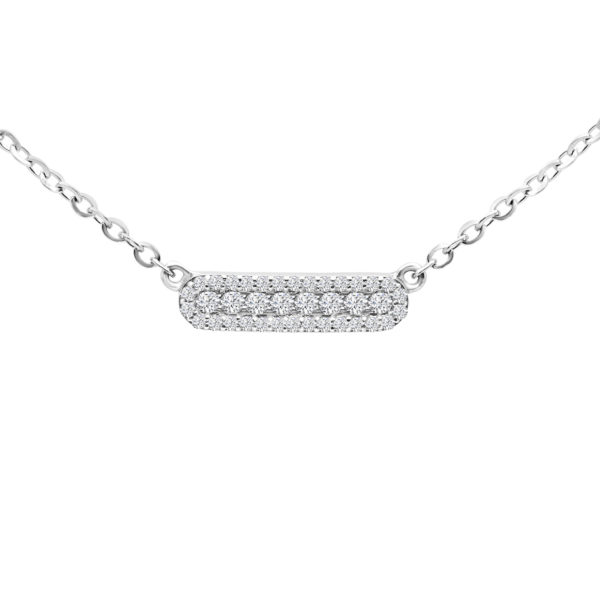 Gracious diamond pendant in 14k white gold