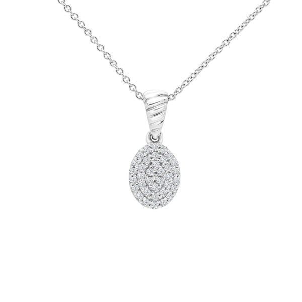 Breathtaking diamond pendant in 14k white gold