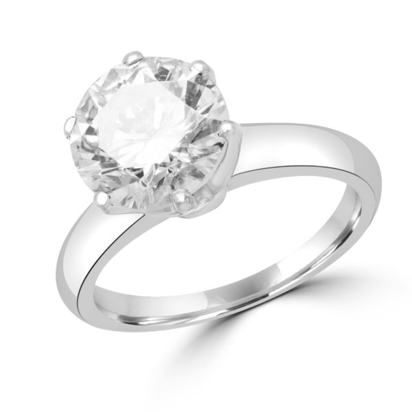 Statement solitaire engagement ring 2.39 (ctw) in platinum