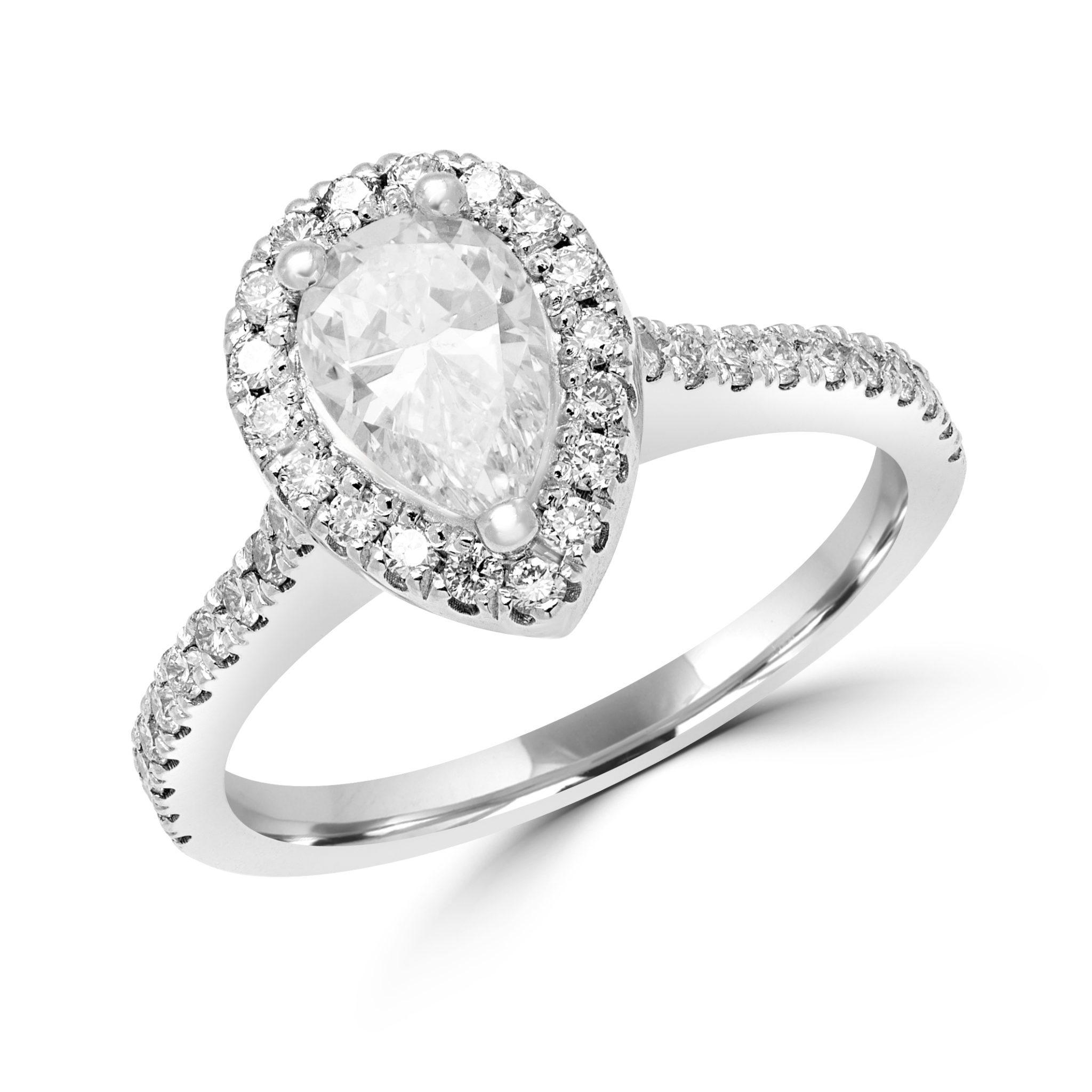 Pear Shape Halo Engagement Ring 1.08 (ctw)gia In 14k Gold