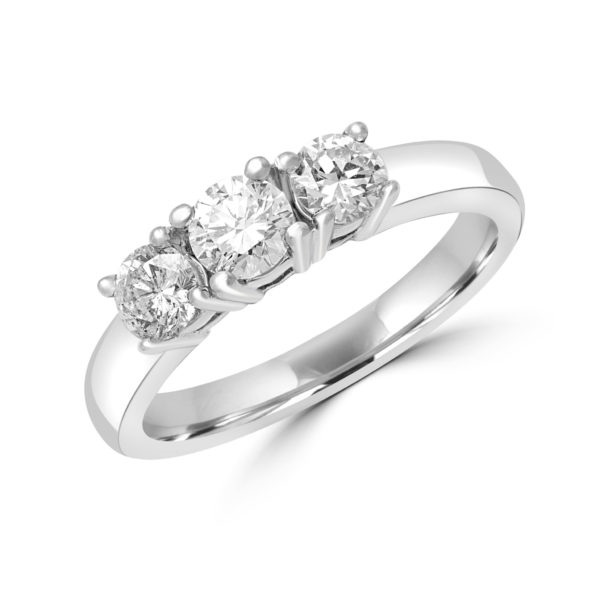 Classic trinity ring 0.70 (ctw) in 14k white gold