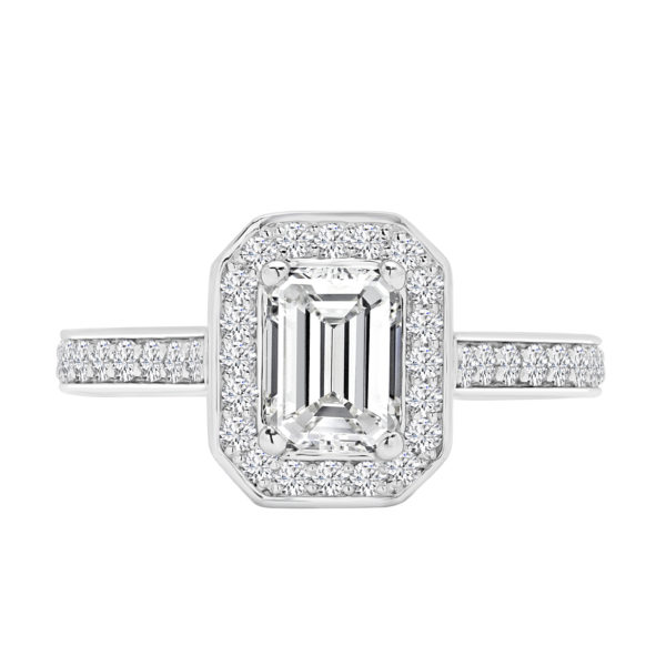 Royal emerald cut engagement ring 1.52 (ctw )