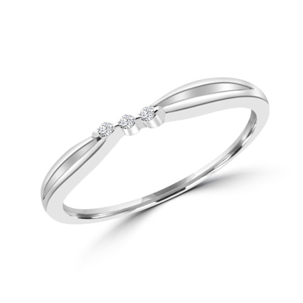 Charming trinity promise ring 0.02 (ctw) in 10k white gold