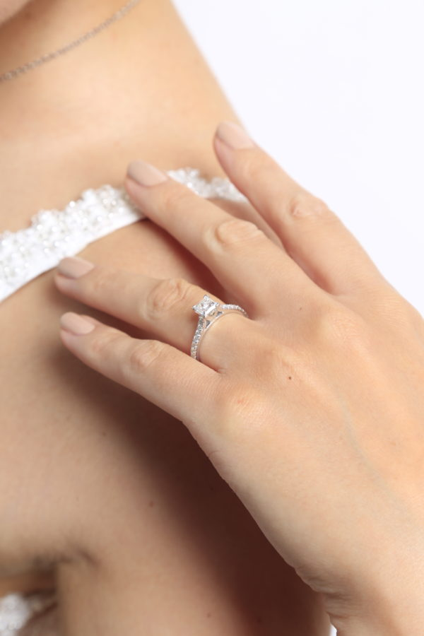Princess cut solitaire diamond ring 1.36(ctw) in 14k gold