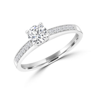Brilliant solitaire diamond ring 0.65(ctw) in 14k gold