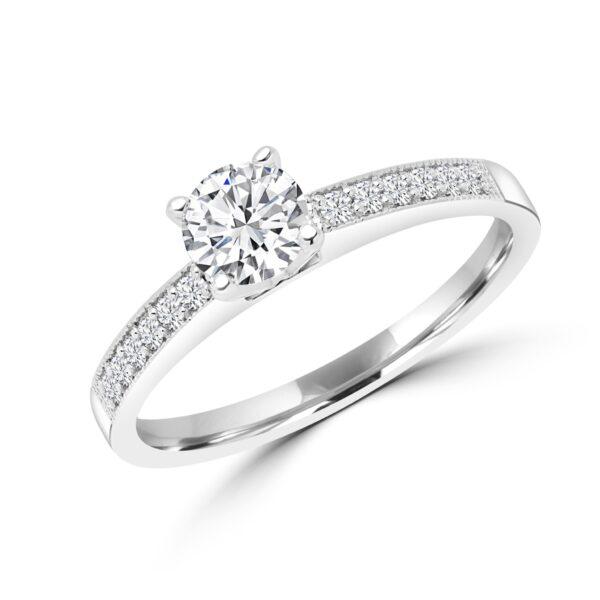 Brilliant solitaire diamond ring 0.65(ctw) in 14k gold
