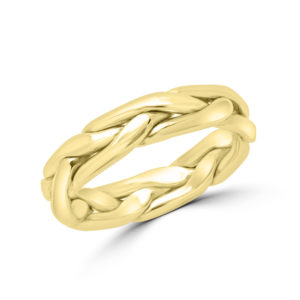 Yellow gold braided wedding Band (4.2mm)