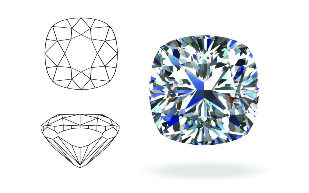 cushion cut diamond ringsv