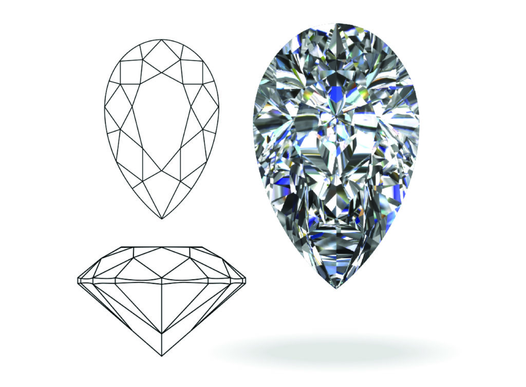 pear shape cut diamond rings