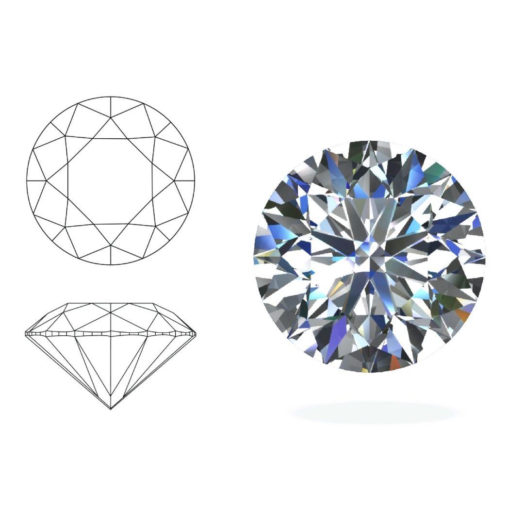 round diamond cut rings