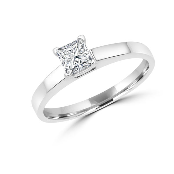 Princess cut solitaire diamond ring 0.50(ctw) in 14k gold