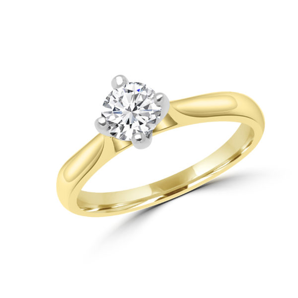 Eye catching solitaire ring 0.50 (ctw) in 14k gold