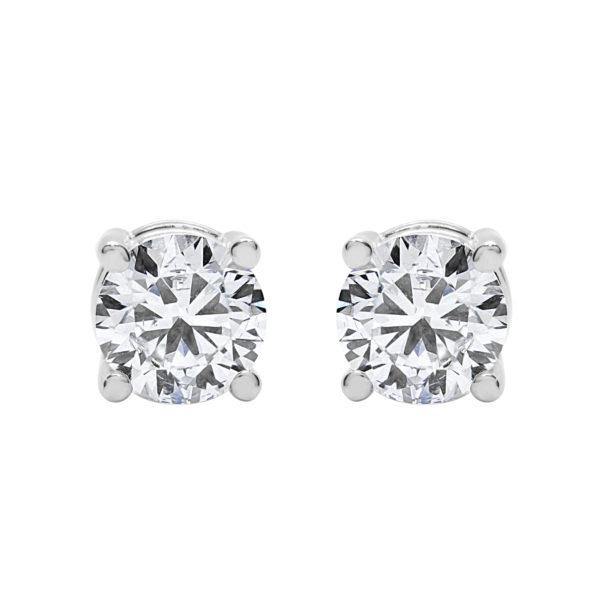 Diamond stud earrings 1.00 (ctw) in 14k white gold