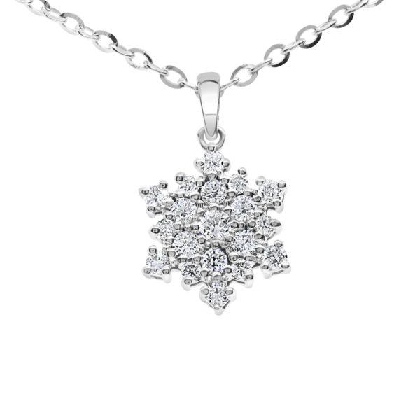 Diamond snowflake pendant 0.51 (ctw) in 14k gold